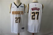 Wholesale Cheap Denver Nuggets 27 Jamal Murray White Nike Swingman Jersey