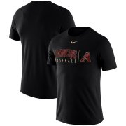 Wholesale Cheap Arizona Diamondbacks Nike MLB Practice T-Shirt Black