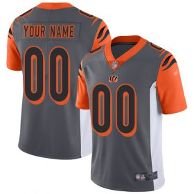 Wholesale Cheap Nike Cincinnati Bengals Customized Silver Men\'s Stitched NFL Limited Inverted Legend Jersey