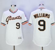 Wholesale Giants #9 Matt Williams White Flexbase Authentic Collection Cooperstown Stitched Baseball Jersey