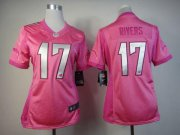 Wholesale Cheap Nike Chargers #17 Philip Rivers Pink Women's Be Luv'd Stitched NFL Elite Jersey