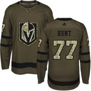 Wholesale Cheap Adidas Golden Knights #77 Brad Hunt Green Salute to Service Stitched Youth NHL Jersey