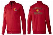 Wholesale Cheap NFL Cleveland Browns Heart Jacket Red