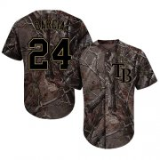 Wholesale Cheap Rays #24 Avisail Garcia Camo Realtree Collection Cool Base Stitched MLB Jersey