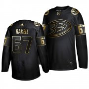Wholesale Cheap Adidas Ducks #67 Rickard Rakell Men's 2019 Black Golden Edition Authentic Stitched NHL Jersey