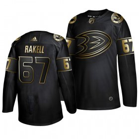 Wholesale Cheap Adidas Ducks #67 Rickard Rakell Men\'s 2019 Black Golden Edition Authentic Stitched NHL Jersey