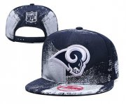 Wholesale Cheap Rams Team Logo Navy White Adjustable Hat YD