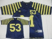 Wholesale Cheap Michigan Wolverines #53 Under The Lights Navy Blue Jersey