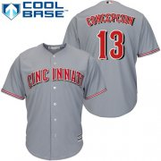 Wholesale Cheap Reds #13 Dave Concepcion Grey Cool Base Stitched Youth MLB Jersey
