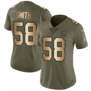 Wholesale Cheap Nike Bears #58 Roquan Smith Olive/Gold Women's Stitched NFL Limited 2017 Salute to Service Jersey
