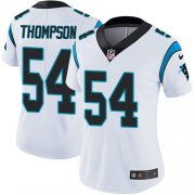 Wholesale Cheap Nike Panthers #54 Shaq Thompson White Women's Stitched NFL Vapor Untouchable Limited Jersey