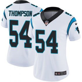 Wholesale Cheap Nike Panthers #54 Shaq Thompson White Women\'s Stitched NFL Vapor Untouchable Limited Jersey