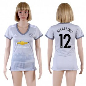 Wholesale Cheap Women\'s Manchester United #12 Smalling Sec Away Soccer Club Jersey
