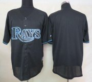 Wholesale Cheap Rays Blank Black Fashion Stitched MLB Jersey