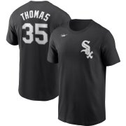 Wholesale Cheap Chicago White Sox #35 Frank Thomas Nike Cooperstown Collection Name & Number T-Shirt Black