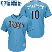 Wholesale Cheap Rays #10 Corey Dickerson Light Blue Cool Base Stitched Youth MLB Jersey