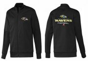 Wholesale Cheap NFL Baltimore Ravens Victory Jacket Black_1