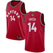 Wholesale Cheap Raptors #14 Danny Green Red 2019 Finals Bound Basketball Swingman Icon Edition Jersey