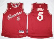 Wholesale Cheap Men's Cleveland Cavaliers #5 J.R. Smith Revolution 30 Swingman 2015 Christmas Day Red Jersey