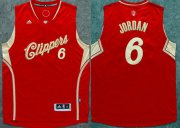 Wholesale Cheap Men's Los Angeles Clippers #6 DeAndre Jordan Revolution 30 Swingman 2015 Christmas Day Red Jersey