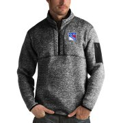 Wholesale Cheap New York Rangers Antigua Fortune Quarter-Zip Pullover Jacket Charcoal