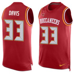 Wholesale Cheap Nike Buccaneers #33 Carlton Davis III Red Team Color Men\'s Stitched NFL Limited Tank Top Jersey