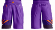 Wholesale Cheap Men's Phoenix Suns Nike Purple Short