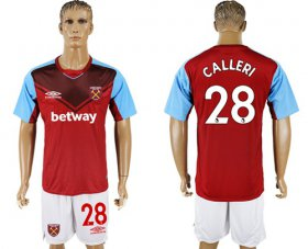 Wholesale Cheap West Ham United #28 Calleri Home Soccer Club Jersey