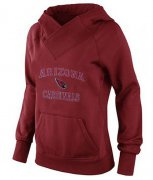 Wholesale Cheap Women's Arizona Cardinals Heart & Soul Pullover Hoodie Red-1