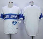 Wholesale Cheap Blue Jays Blank White Exclusive New Cool Base Stitched MLB Jersey
