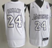 Wholesale Cheap Los Angeles Lakers #24 Kobe Bryant Revolution 30 Swingman White Big Color Jersey