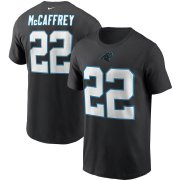 Wholesale Cheap Carolina Panthers #22 Christian McCaffrey Nike Team Player Name & Number T-Shirt Black