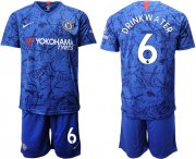 Wholesale Cheap Chelsea #6 Drink Water Home Soccer Club Jersey