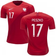 Wholesale Cheap Poland #17 Peszko Away Soccer Country Jersey