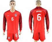 Wholesale Cheap USA #6 Brooks Away Long Sleeves Soccer Country Jersey