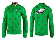 Wholesale Cheap NFL Philadelphia Eagles Team Logo Jacket Green_2