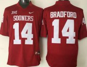 Wholesale Cheap Men's Oklahoma Sooners #14 Sam Bradford Red College Football Nike Jersey