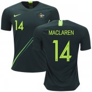 Wholesale Cheap Australia #14 Maclaren Away Soccer Country Jersey