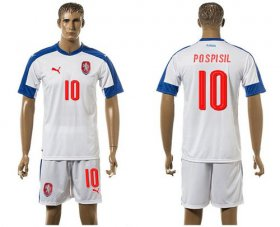 Wholesale Cheap Czech #10 Pospisil Away Soccer Country Jersey