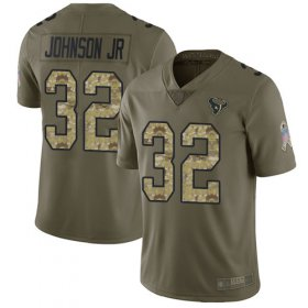 Wholesale Cheap Nike Texans #32 Lonnie Johnson Jr. Olive/Camo Men\'s Stitched NFL Limited 2017 Salute To Service Jersey