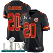 Wholesale Cheap Nike Chiefs #20 Morris Claiborne Black Super Bowl LIV 2020 Youth Stitched NFL Limited Rush Jersey