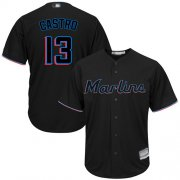 Wholesale Cheap Marlins #13 Starlin Castro Black Cool Base Stitched Youth MLB Jersey