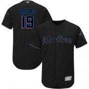 Wholesale Cheap marlins #19 Miguel Rojas Black Flexbase Authentic Collection Stitched MLB Jersey