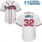 Wholesale Cheap Braves #32 Cole Hamels White New Cool Base Stitched Youth Youth MLB Jersey