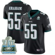 Wholesale Cheap Nike Eagles #55 Brandon Graham Black Alternate Super Bowl LII Champions Men's Stitched NFL Vapor Untouchable Limited Jersey