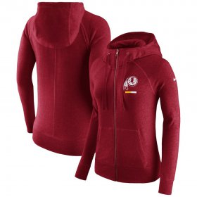 Wholesale Cheap Washington Redskins Nike Women\'s Gym Vintage Full-Zip Hoodie Burgundy
