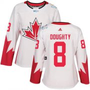 Wholesale Cheap Team Canada #8 Drew Doughty White 2016 World Cup Women's Stitched NHL Jersey