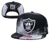 Wholesale Cheap Raiders Team Logo Black White Adjustable Hat YD