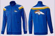Wholesale Cheap NFL Denver Broncos Team Logo Jacket Blue_3