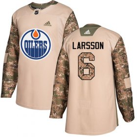 Wholesale Cheap Adidas Oilers #6 Adam Larsson Camo Authentic 2017 Veterans Day Stitched NHL Jersey